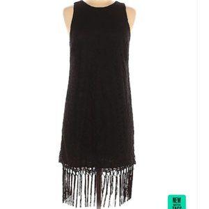 NEW Lush black fringe dress, size M